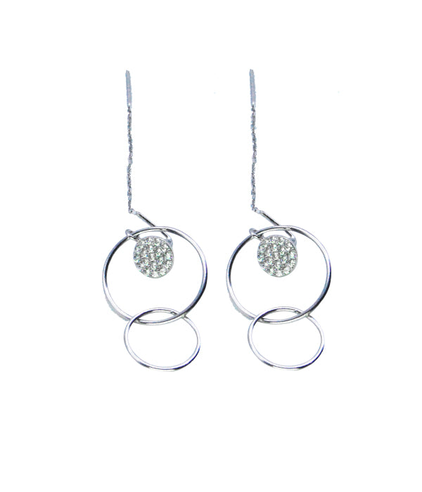 Swinging Circle Earrings