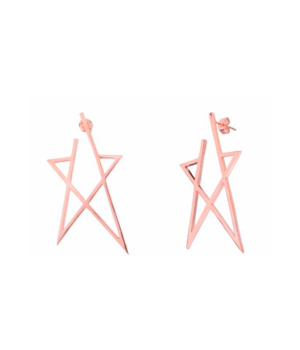 Begna Gold Star Earrings, Large