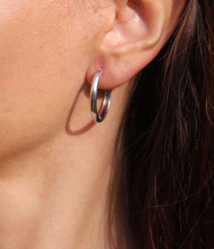 Round Earrings, Small