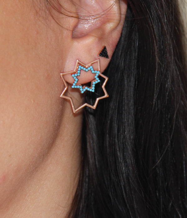Begna Model Little Triangle Star Earrings