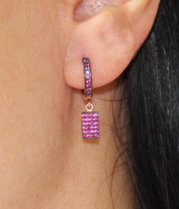 Deep Rose Earrings