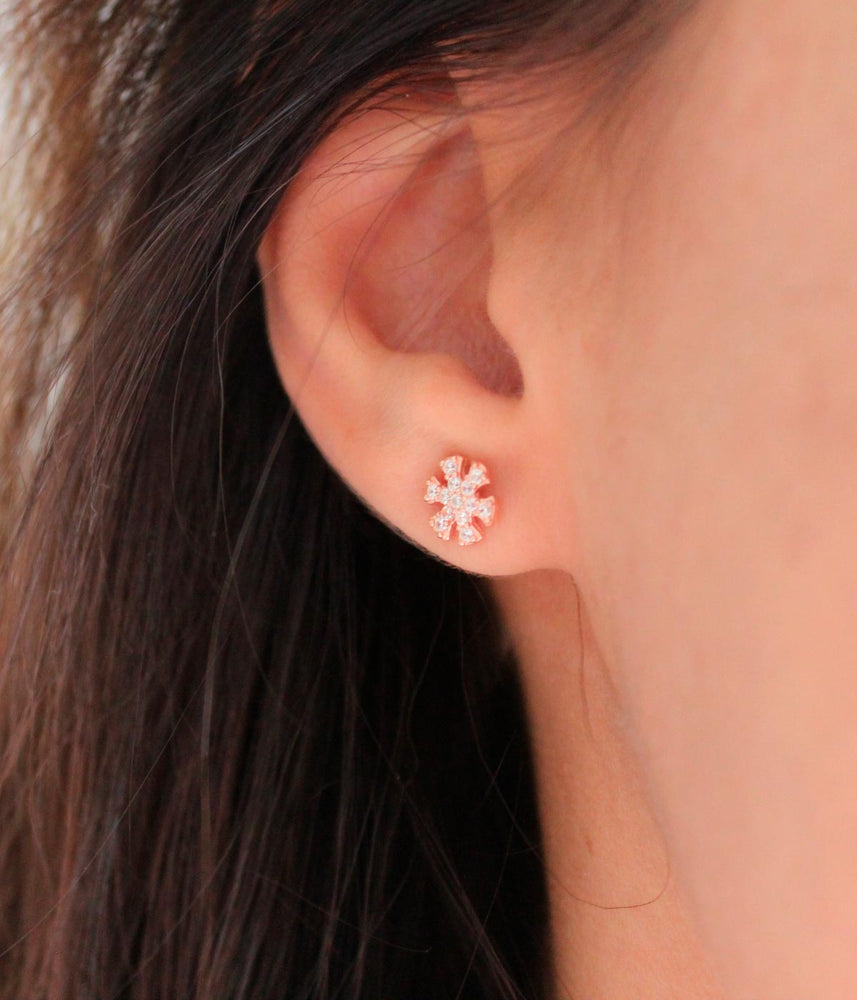 Begna Model Snowflake Earrings