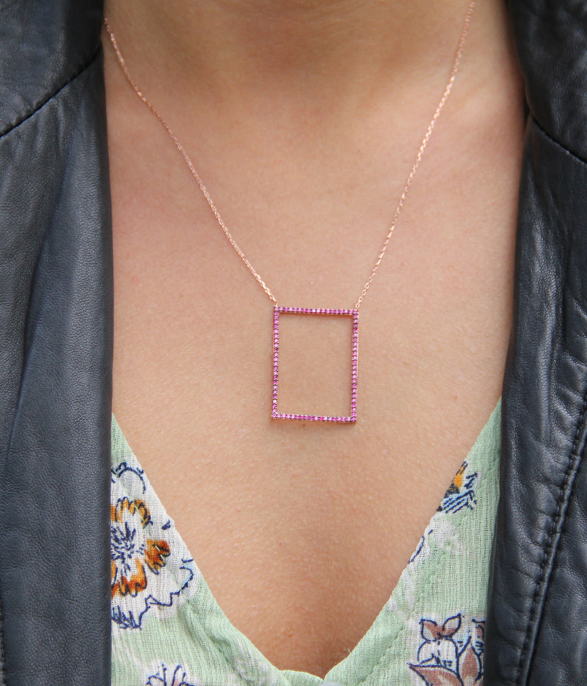 Frame Shaped Necklace
