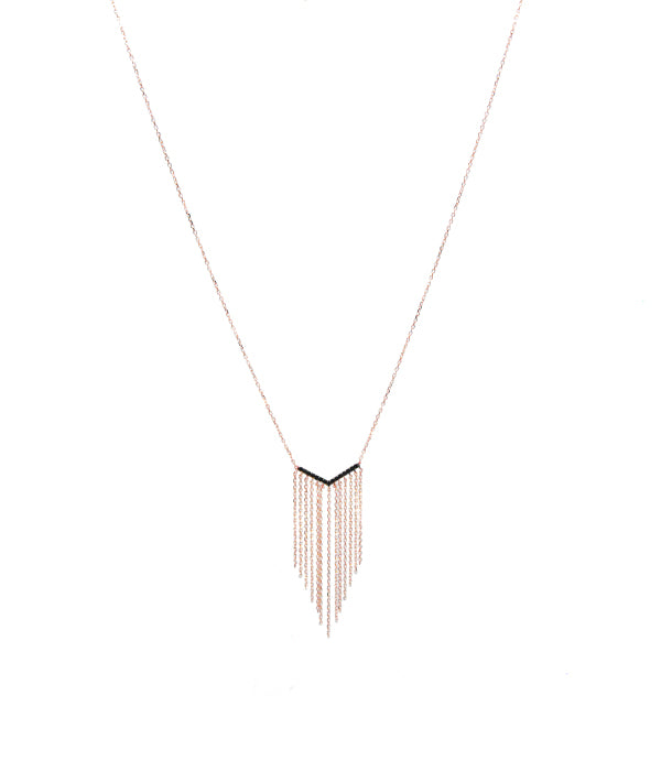 V Chandelier Necklace