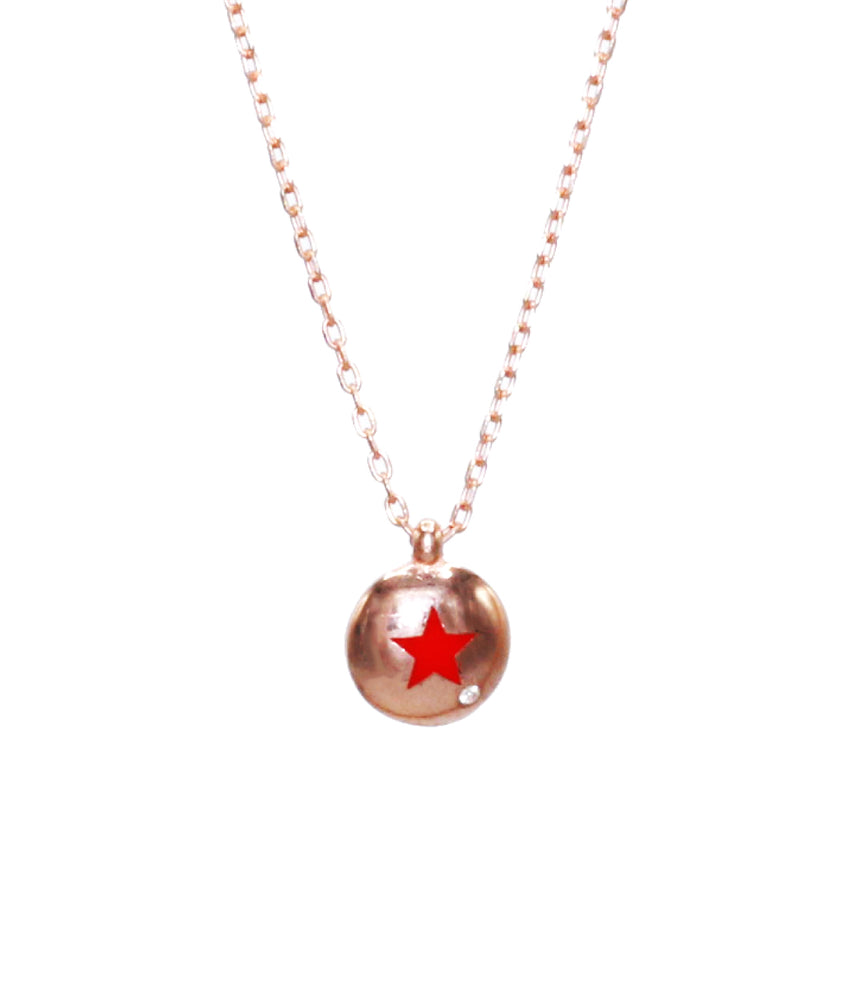 Begna Red Star Necklace