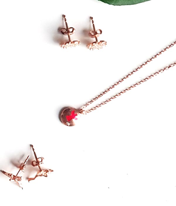 Begna Red Angel Necklace