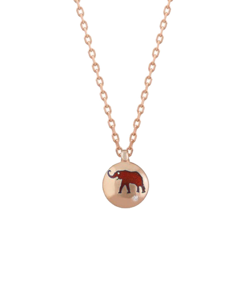 Begna Red Elephant Necklace
