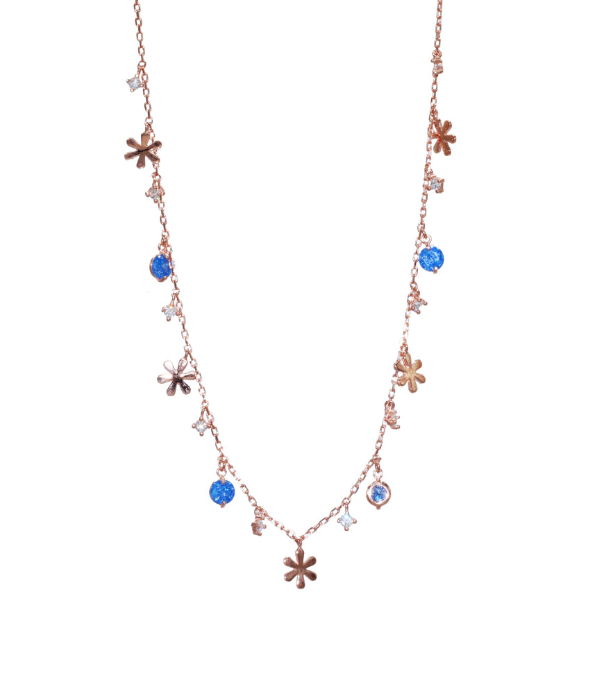 Blue Stone Xmas Necklace