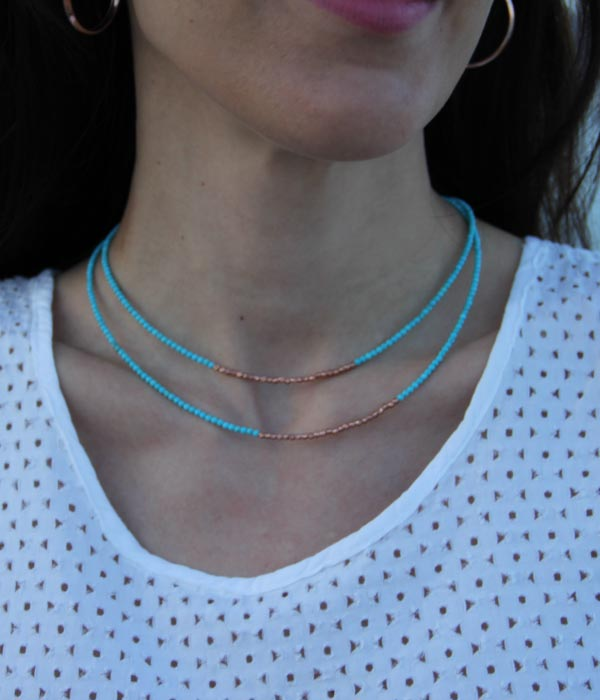 Begna Model Natural Stone, Turquoise Choker