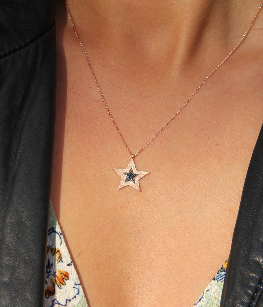 Begna Model Double Star Pendant