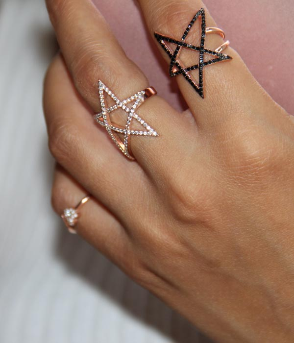 Begna Model Gold Star Ring