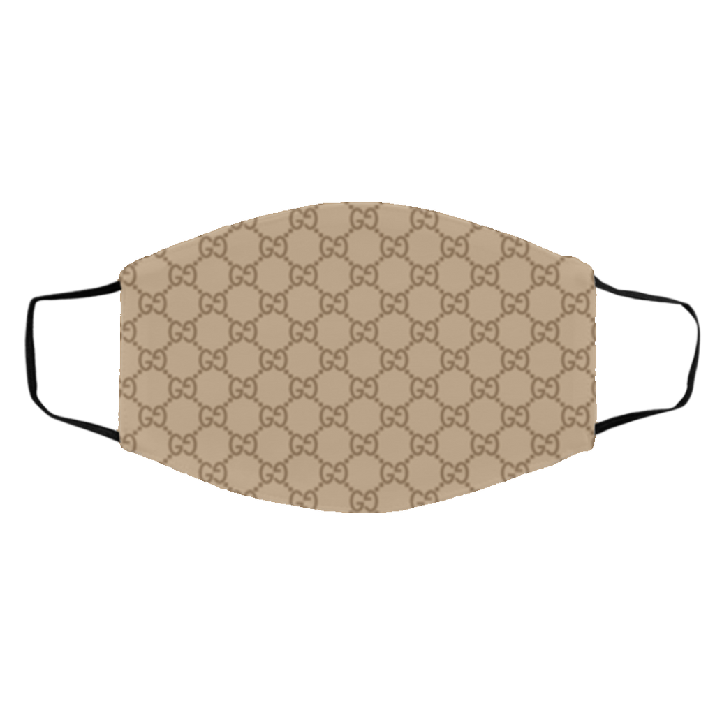Luxury Monogram Face Covering Brown