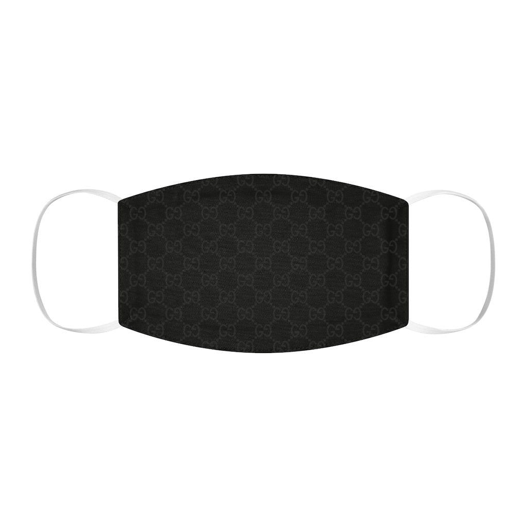 Luxury Monogram Face Covering Black - WePrintYourDesign.com