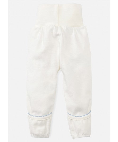 Newborn High Waist Cotton Pants - Blue