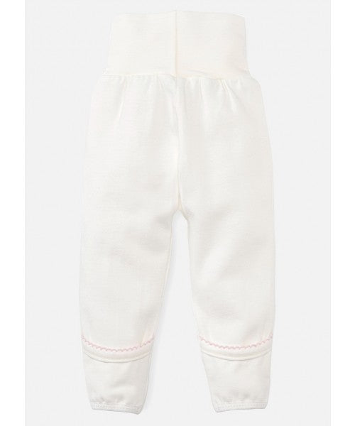 Newborn High Waist Cotton Pants - Pink