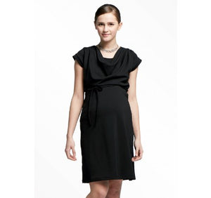 1672X Cowl Neck Maternity & Nursing Dress