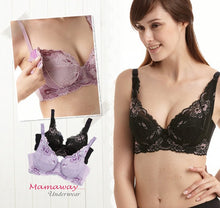 Load image into Gallery viewer, 9883 (PURPLE)  Flexiwire Shaping Lace Nursing Bra
