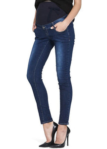 171504 (Blue) Stretch Maternity Ankle Biter Jeans