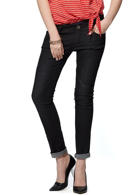 171520X (Black) Washed Out Maternity Pencil Jeans