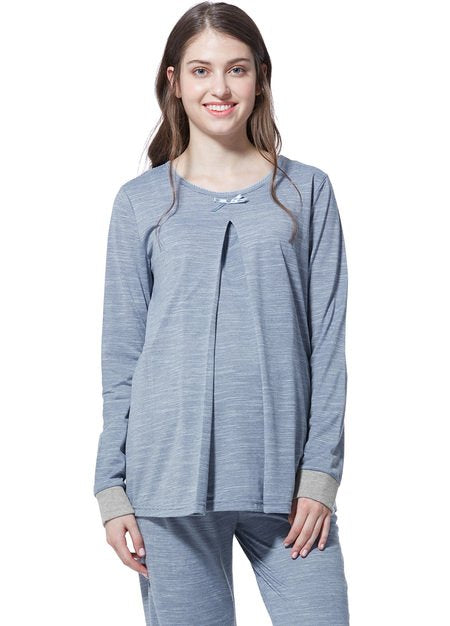 Stripes Maternity & Nursing Pyjama Set