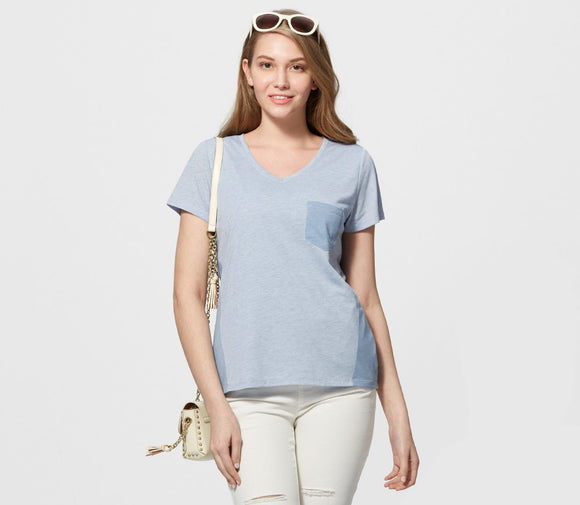 181011B Color Block Maternity & Nursing Tee