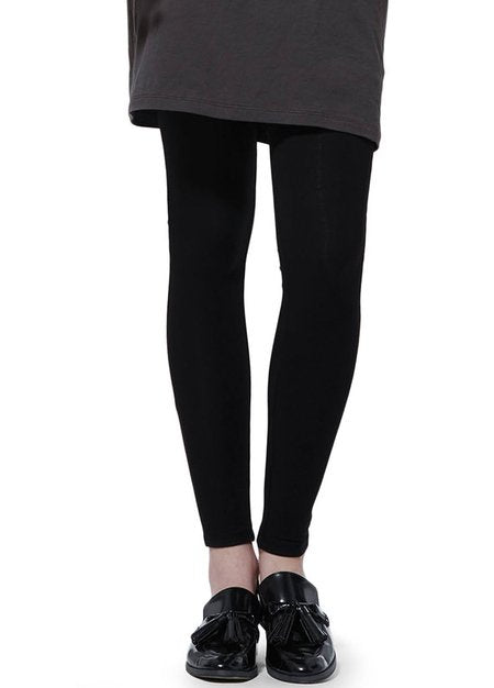 162556X Essentials Maternity Full Length Leggings (Black)