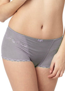 9876 Gray Bella Lace Maternity Boycut Shorts