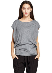 171004 (Heather Gray) Bat sleeve Maternity and Nursing Top