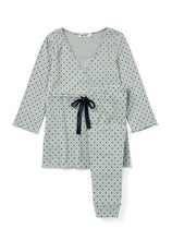 Load image into Gallery viewer, 181709Z (Gray) Dainty Dots Maternity & Nursing Pajama