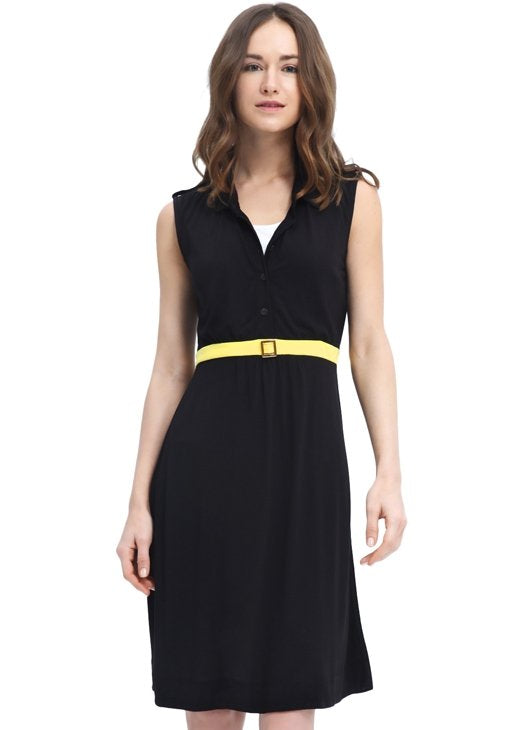 1524X Sleeveless Maternity/ Nursing Dress with Belt