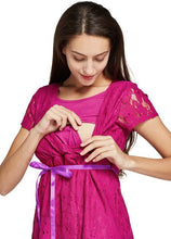 Load image into Gallery viewer, 171011P Lace Cross-over Maternity & Nursing Dress