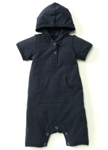 Navy Baby Suit with Pouch Pockets & Hoodie