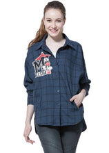 Load image into Gallery viewer, 162867 (Deep Sapphire Blue)  Mickey embroidered patch long sleeves