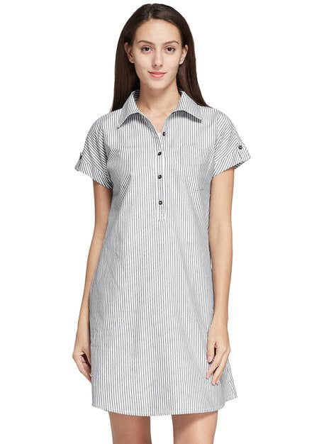 Jersey Button-up Maternity & Nursing Dress