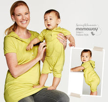 Load image into Gallery viewer, Mustard Apricot Wash Baby Suit with Pouch Pockets & Hoodie