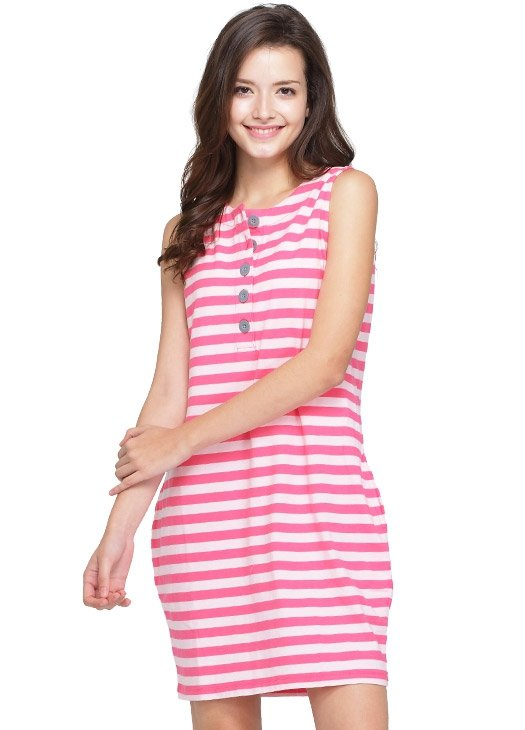 Striped Vest Nursing Dress
