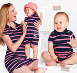 Polo Striped Baby Bodysuit