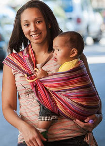 59923 Rainbow Mocca Baby Ring Sling