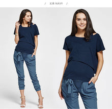 Load image into Gallery viewer, 171006 (Navy)  Asymmetrical Maternity and Nursing