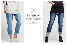 Load image into Gallery viewer, 16530 (BLUE)  Maternity Boyfriend Jeans in Distressed