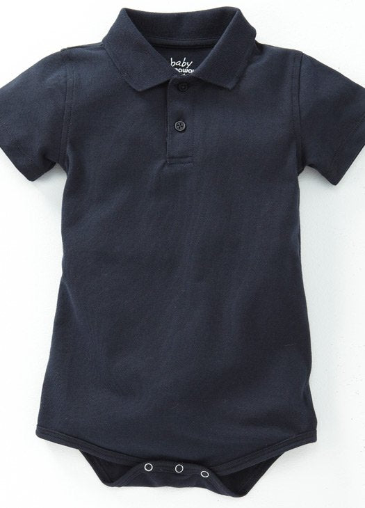 Navy Baby POLO Bodysuit