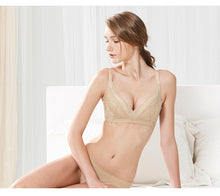 Load image into Gallery viewer, Wire free Laced Crossover Maternity and Nursing Bra