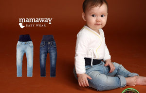 13728  Love Wash -  Super Stretch Wide Band Baby Jeans with Rip Detail