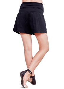181504G Olive Green Maternity Bamboo Cotton Shorts