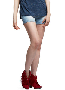 Classic Washed Denim Maternity Shorts