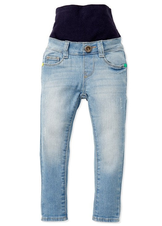 Love Wash -  Super Stretch Wide Band Baby Jeans with Rip Detail