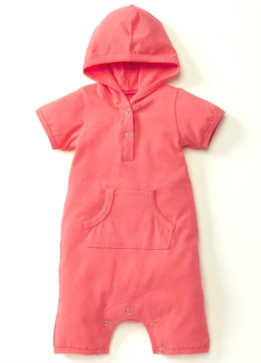 Apricot Wash Baby Suit with Pouch Pockets & Hoodie