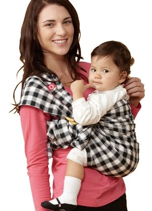 59949 Gingham Chunky Baby Ring Sling