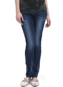 Patchwork Slim Fit Maternity Jeans