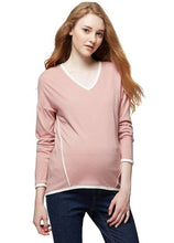 Load image into Gallery viewer, 172068 (Apricot Wash) V-Neck Maternity and Nursing Cardigan